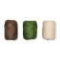 Papier-Raffia-Set 3 x 10 m, Farbe: braun/grün/natur