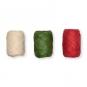 Papier-Raffia-Set 3 x 10 m, Farbe: natur/grün/rot