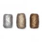 Metallic-Papier-Raffia Set 3 x 10 Meter, Farbe: silber/champagner/braun