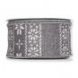 Dekorationsband Strickoptik, Farbe: grau/weiß