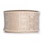 Dekorationsband Strickoptik, Farbe: creme/weiß