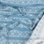 """Dekostoff Strick-Optik """"Norweger-Muster"""" Meterware, Farbe: rauchblau/weiss"""