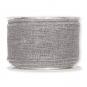 transp. Dekoband mit Lurex, Farbe: Grau/Silber