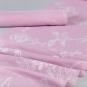 "Dekostoff Flockdruck ""Blumenranke"", Farbe: rosa"