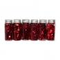 Streu-Deko 24 Fläschchen, Farbe: rot