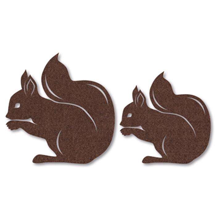 FilzSortiment Eichhörnchen  Seidenbänder